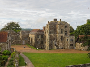 Inside the keep of Carisbrooke Castle.