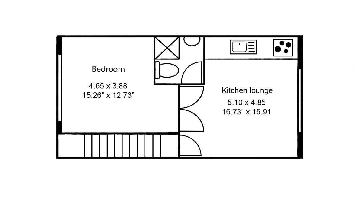 floor plan 1 bed flat